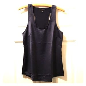 Banana Republic midnight blue razor back tank
